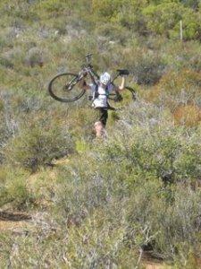 One tough mountain biker - self proclaimed.
